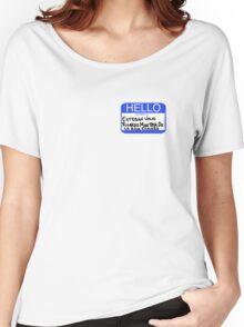 Hello My Name Is Esteban Julio Ricardo Montoya De La Rosa Ramirez  Women's Relaxed Fit T-Shirt