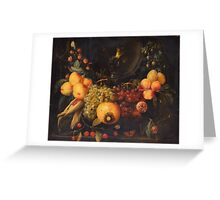 STILL LIFE WITH FRUIT. Greeting Card