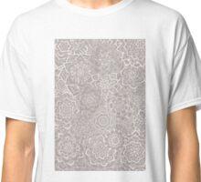 Delicate Lace Mandala Pattern (Grey/Cream) Classic T-Shirt