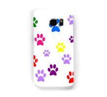 Multi-colored Paws Samsung Galaxy Case/Skin