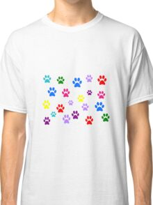 Multi-colored Paws Classic T-Shirt