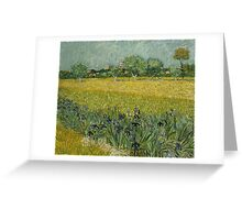 Vincent Van Gogh - Field with Flowers near Arles, 1888 Greeting Card