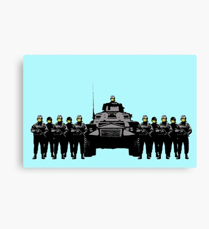 Smiley Riot Canvas Print