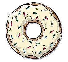 Crema Cartoon Donut Photographic Print