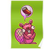 Beaver Wood Poster