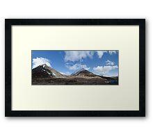 mountain saddle Framed Print