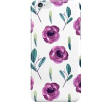 Pattern with flowers and plants. iPhone Case/Skin