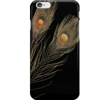 Abstract Peacock feathers iPhone Case/Skin