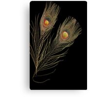 Abstract Peacock feathers Canvas Print