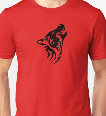 Howling like a wolf Unisex T-Shirt