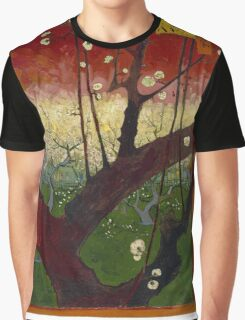 Vincent Van Gogh - Flowering plum orchard after Hiroshige, 1887 Graphic T-Shirt