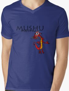 Mushu [with name] Mens V-Neck T-Shirt