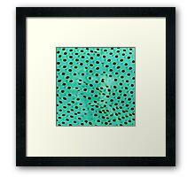 Polka mint Framed Print