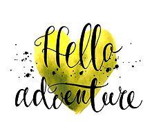 Conceptual handwritten phrase hello adventure. by KatyaBranch
