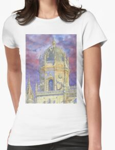 bell tower Jerónimos Monastery Womens Fitted T-Shirt