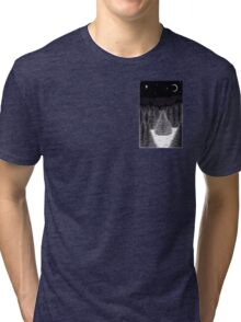 Pen and Ink Forest Scene Tri-blend T-Shirt