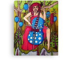 Spin That Funky Yarn Canvas Print
