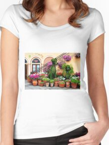 Canines in Love, EPCOT's Flower and Garden Festival Women's Fitted Scoop T-Shirt