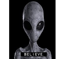 I want to Believe Alien Photographic Print