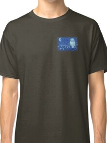 Owl on a Tree Branch Classic T-Shirt