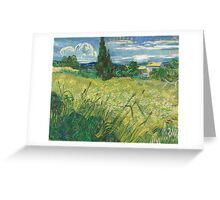 Vincent Van Gogh - Green Field, 1889 Greeting Card