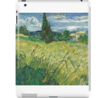 Vincent Van Gogh - Green Field, 1889 iPad Case/Skin