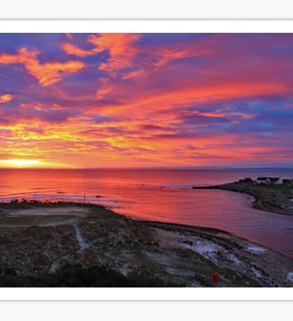 Brora Estuary Sunrise  Sticker
