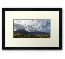 norwegian mountains Framed Print