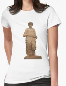 Statue of A Roman Priest Wearing A Toga Womens Fitted T-Shirt