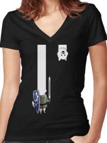 Undertale Lesser dog Women's Fitted V-Neck T-Shirt