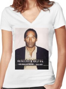 O.J. Simpson Women's Fitted V-Neck T-Shirt