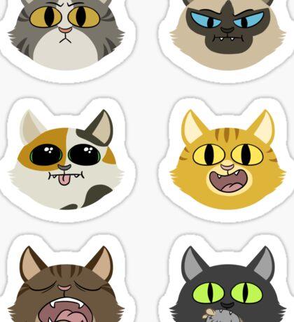 Set of Cats Sticker