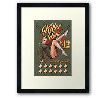 Killer Bee Pin Up Framed Print
