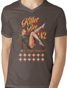 Killer Bee Pin Up Mens V-Neck T-Shirt