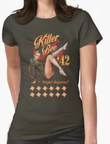 Killer Bee Pin Up Womens Fitted T-Shirt