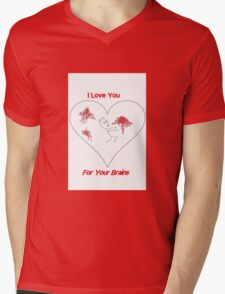 Zombie Love Mens V-Neck T-Shirt