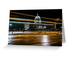 Capital streaks Greeting Card