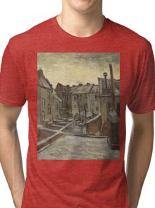 Vincent Van Gogh - Houses seen from the back, December 1885 - February 1886 Tri-blend T-Shirt