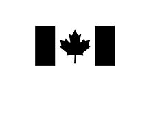 """CANADA, CANADIAN, Canadian Flag, National Flag of Canada, Funeral, Mourning,  """"A Mari Usque Ad Mare"""" Pure & Simple in BLACK,  by TOM HILL - Designer"""