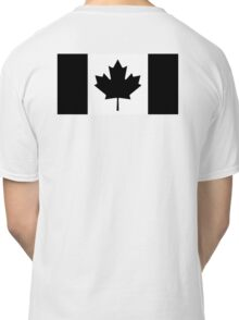 CANADA, CANADIAN, Canadian Flag, National Flag of Canada, Funeral, Mourning, A Mari Usque Ad Mare, Pure & Simple, in BLACK,  Classic T-Shirt