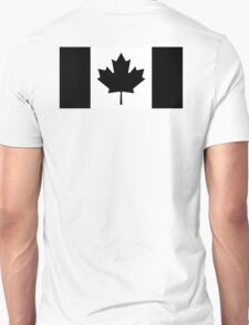 """CANADA, CANADIAN, Canadian Flag, National Flag of Canada, Funeral, Mourning,  """"A Mari Usque Ad Mare"""" Pure & Simple in BLACK,  T-Shirt"""