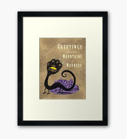 Haunted Greetings from the Mountains of Madness Framed Print