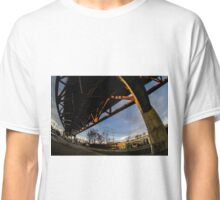 Sunset under the Chicago Skyway bridge Classic T-Shirt