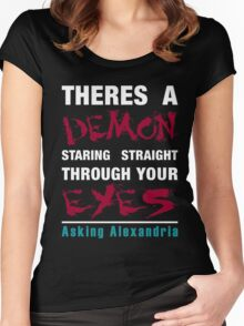 Asking Alexandria The Black Women's Fitted Scoop T-Shirt