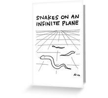"""Snakes on an Infinite Plane"" HAHAHA! Greeting Card"