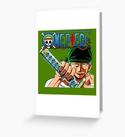 ZORO - ONE PIECE Greeting Card