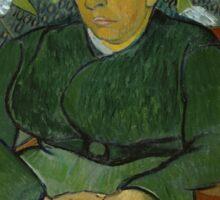 Vincent Van Gogh - La berceuse, Portrait of Madame Roulin, December 1888 - January 1889 Sticker