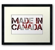 Canada Canadian Flag Framed Print
