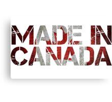 Canada Canadian Flag Canvas Print