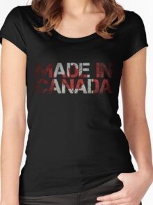 Canada Canadian Flag Women's Fitted Scoop T-Shirt